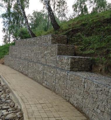 Строительство подпорной стены